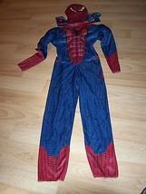 Size Medium 7-8 Marvel Spider-Man Spiderman Muscle Halloween Costume w M... - $35.00