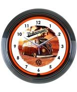 "Volkswagen Bus Authorized Auto Car Garage Neon Clock 15""x15"" - $69.00"