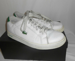 Lacoste Carnaby Evo 319 White Leather Lace Up Casual Shoes Men's Size 8.5M - $28.04