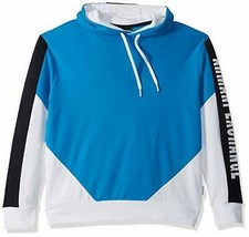 A|X Armani Exchange Men's Color Block Pullover Hoodie, Directoire Blue/W... - $64.65