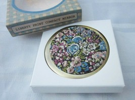 Andrea Garland Liberty of London Fabric Print Compact Mirror Floral Chiv... - $14.24