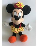 Mattel Arcotoys Minnie Mouse Yellow Red Polka Dot Flower Hat Plush Stuff... - $14.01