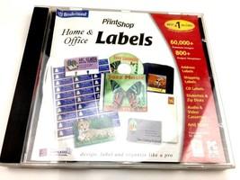 Broderbund Print Shop Home & Office Labels PC Microsoft 2002  - $13.99