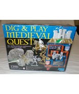 Dig & Play Medieval Quest Excavation Board Game Toy New Sealed Diorama  ... - $27.28