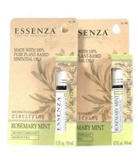 2 Essenza 0.3 Oz Aromatherapy Clarifying Rosemary Mint Essential Oil Rol... - $19.99