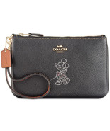 Coach X Disney Minnie Mouse Motif Small Wristlet ~NWT Black~ Gift BOX 37... - $96.23