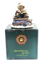 Boyds Bears Wind Up Music Box Figurine Bailey The Night Before Christmas- In Box - $29.39