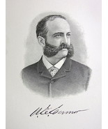 WASHINGTON CONNOR Walls Street Exchange New York Financier - 1895 Portra... - $9.44
