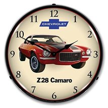 1972 Z28 Camaro Lighted Wall Clock 14x14 Inches 110v GM1701720 - $129.95