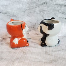 Animal Planters with Succulents, Fox and Raccoon, 3 inches, ceramic image 4