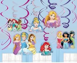 NEW Disney Princess Foil Decor swirl decorations value pack - $6.79