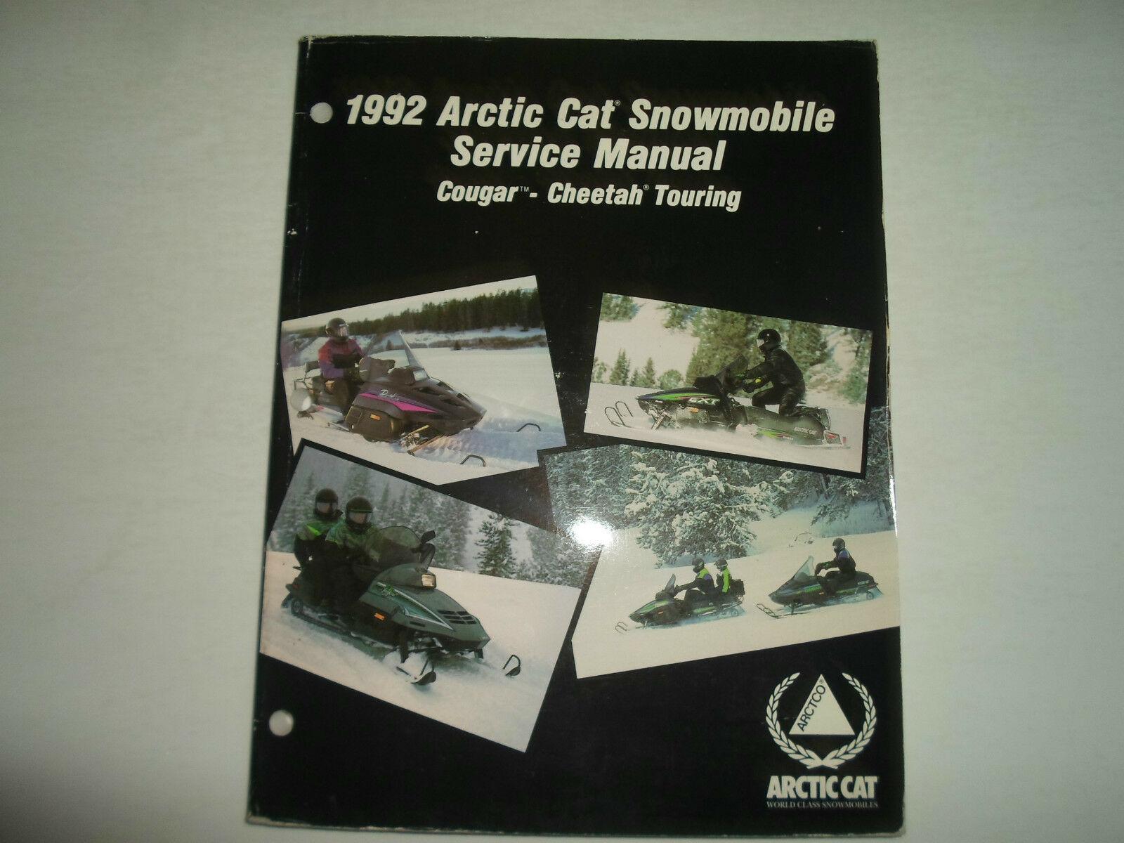 1992 Arctic Cat Cougar Cheetah Touring Service Repair Shop Manual WATER DAMAGED