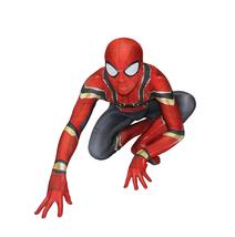 Unisex Adult Iron Spiderman Costume Lycra Spandex Cosplay Superhero Zent... - $49.99