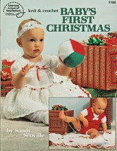 "American School of Needlework ""Baby's First Christmas"" Knit/Crochet -Gen... - $7.00"