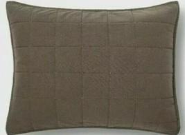 Threshold Brown Flannel Box Stitch Quilted Standard Sham - $7.60