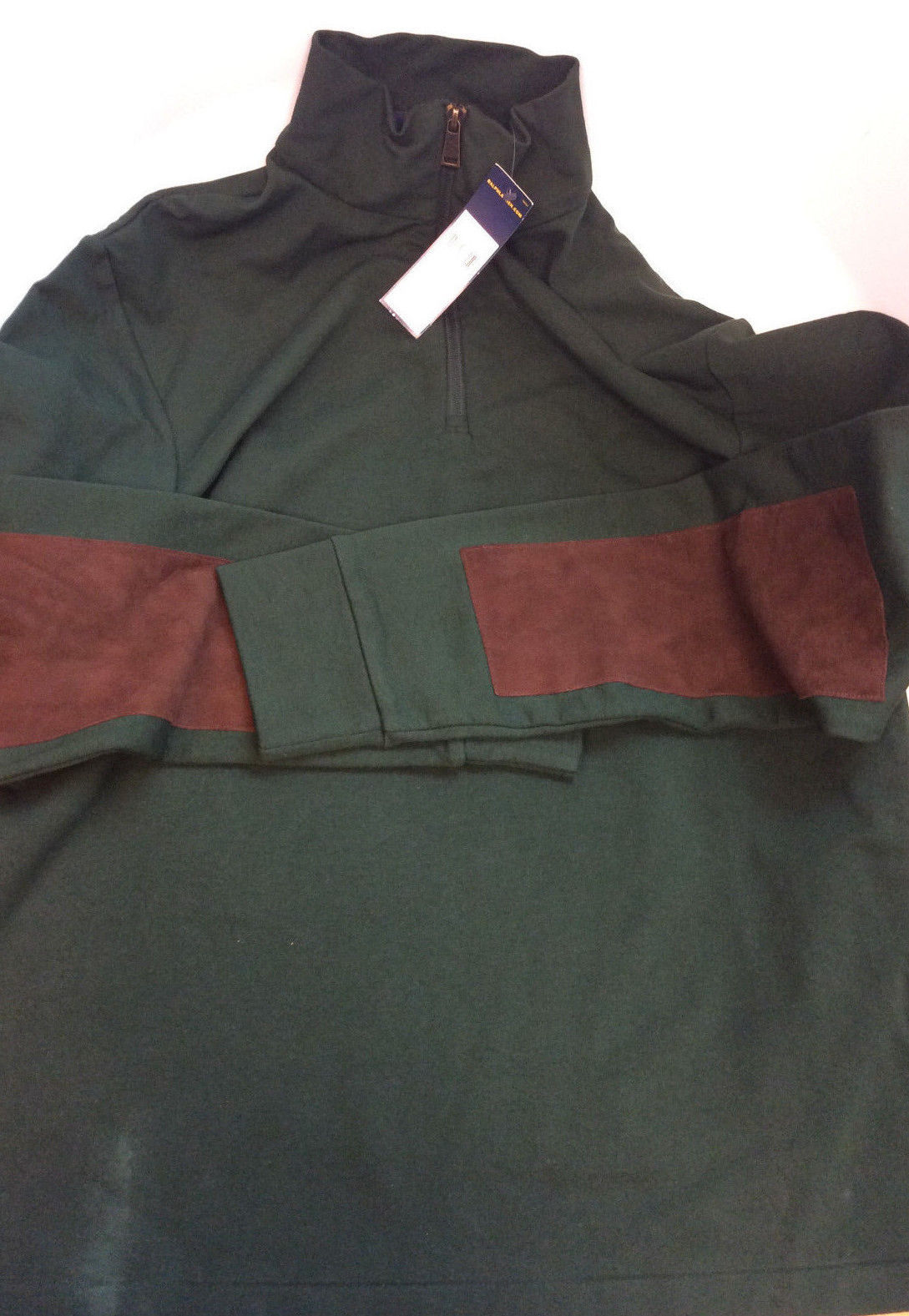 $185 Polo Ralph Lauren Men's French Terry Mockneck Pullover, Green, Size XL