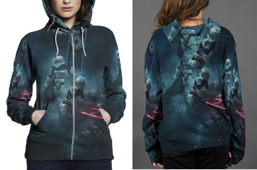 Primary image for Vaders First Hoodie Zipper Fullprint Women