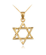 10K Yellow Gold Jewish Star of David DC Charm Necklace - $59.99+