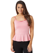 Tracy Anderson for G.I.L.I. X-Small Peplum Cami Tank Top Soft Peach Pink XS - $13.99