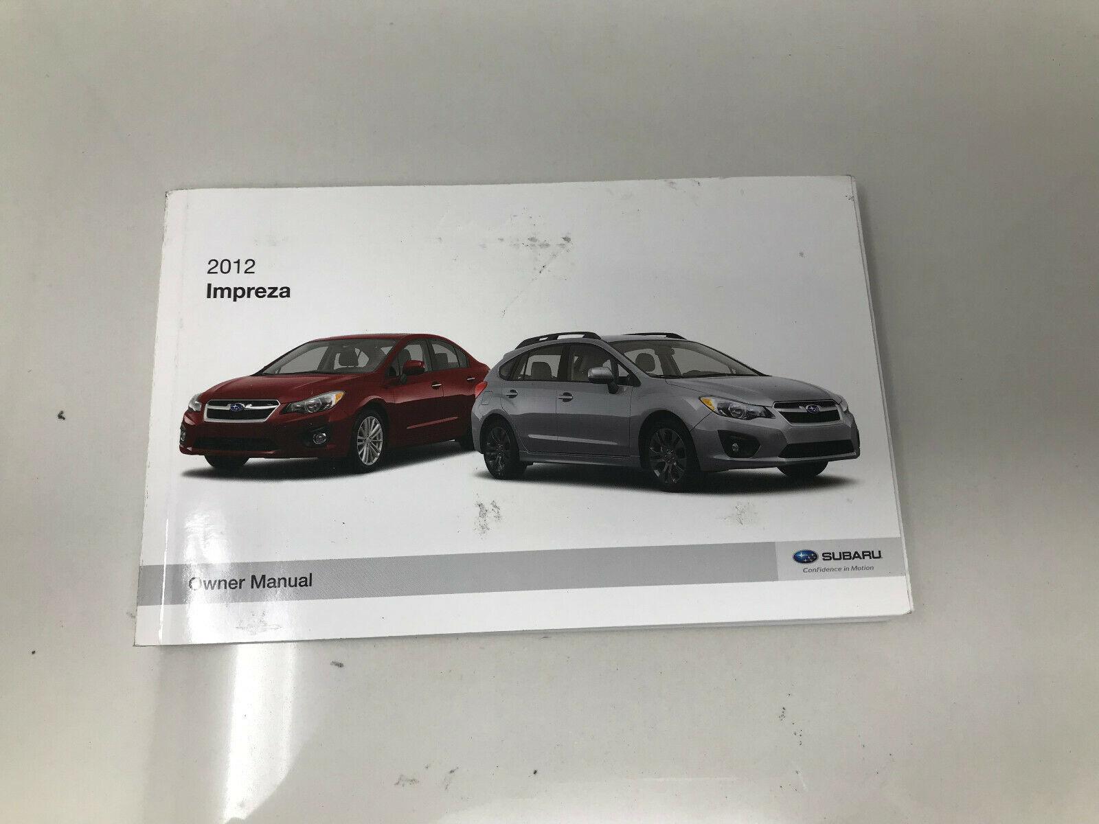 2012 Subaru Impreza Owners Manual book Z0C39