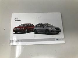 2012 Subaru Impreza Owners Manual book Z0C39 - $38.39