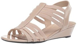 LifeStride Women's Yours Wedge Sandal, Taupe, 9 W US - $58.51