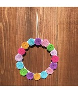 Paper Flower Multi Color Handcrafted Round Wall Decor - $29.99