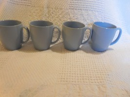 4 Corelle Coordinates Light Blue 12 oz Stoneware Mugs - $8.90