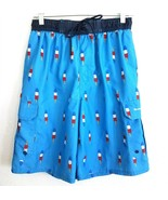 Beverly Hills Polo Club Blue Popsicle Print Swim Trunks Shorts Mens Small - $19.65