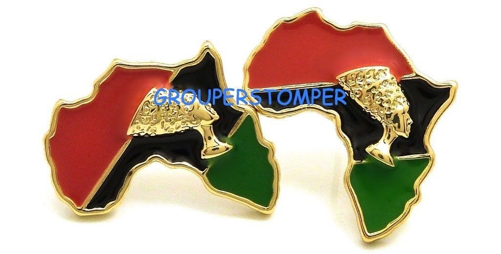 Primary image for Africa Continent With Queen Nefertiti Post Style Pierced Stud Earrings