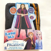 Disney Frozen II Anna Wearable Blanket Purple 56x30 Blankie Tails Gift Box - $14.89