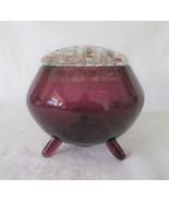 LE Smith, Flower Vase, Florette, Amethyst, Frog, No. 5250 - $16.00