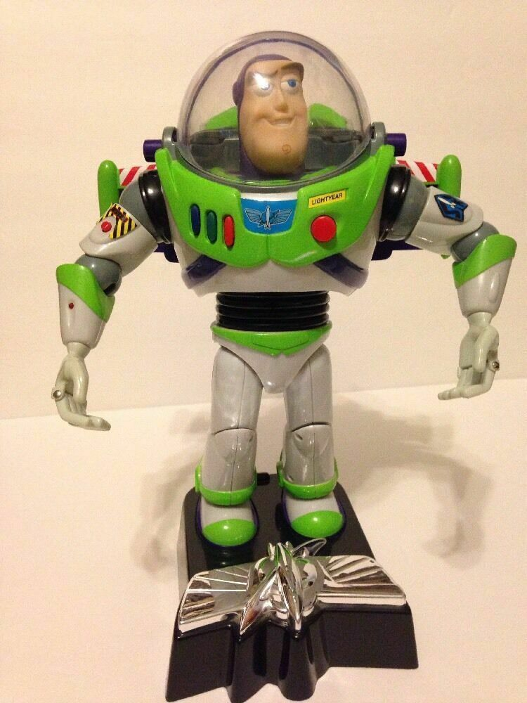 "DISNEY THINKWAY TOYS TOY STORY 13"" TALKING BUZZ LIGHTYEAR ROOM GUARD"
