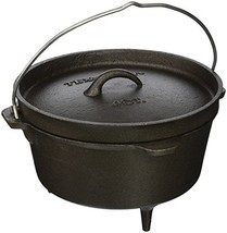 Texsport Cast Iron Dutch Oven with Legs, Lid, Dual Handles and Easy Lift... - $35.06
