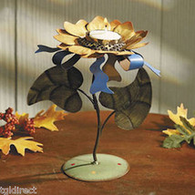 Sunflower Metal Table Top Decoration Tealight Candle Holder Tea Light Votive - $8.99