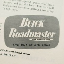 1949 Buick Print Ad Roadmaster With Dynaflow Drive - $15.75