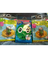 Set 2 inflatable Cup holders Float 1 Emoji Style Beach Ball Pool Party Luau - $12.50