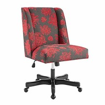 Linon Red Floral Adjustable Clayton Office Chair - $340.71