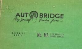 Autobridge Masonite Model No MA For Advanced Bridge Players Original Sheets - $23.74