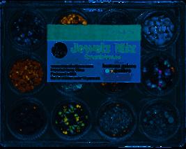 Jewelz Mix. Neutrals. 12 Colors. Buttons Galore