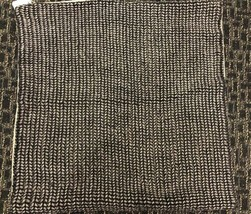 "Pottery Barn Black Keva Pillow Cover 22"" Square Linen Rope Nautical NWT - $55.44"