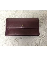 Authentic Louis Vuitton Burgundy Patent Leather Bifold Long Wallet 7.5in... - $142.45