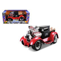 1929 Ford Model AA Matt Black/Red Muscle Machines 1/18 Diecast Model Car... - $100.40