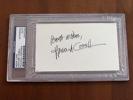 HOWARD COSELL SPORTS JOURNALIST BROADCASTING SIGNED AUTO VINTAGE INDEX P... - $197.99