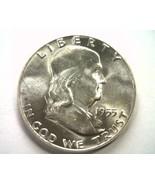 1955 FRANKLIN HALF DOLLAR CHOICE UNCIRCULATED+ WHITE CH. UNC+ NICE ORIGI... - $32.00