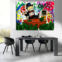 """Alec Monopoly """"BOSS WORK"""" HD print on canvas large wall picture 29x24"""" - $24.74"""