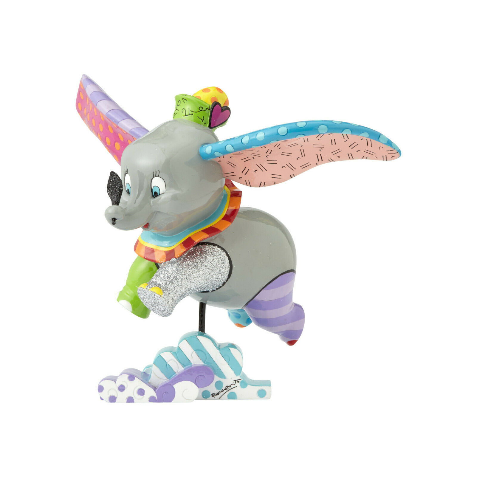 """7.25"""" High Disney Britto Dumbo Figurine Multicolor Hand Painted"""