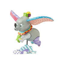 "7.25"" High Disney Britto Dumbo Figurine Multicolor Hand Painted - $89.09"