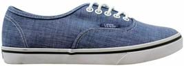 Vans Authentic Lo Pro Blue/True White Chambray VN-0T9NATX Men's Size 3.5 - $60.00