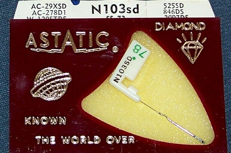 ASTATIC N103-sd PHONOGRAPH RECORD NEEDLE for Acos 73-1 73-1A 73-1B GP-73